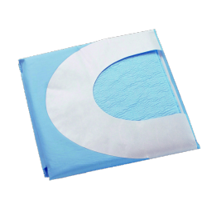 Champ chirurgical en U avec adhésif 100 x 150 cm