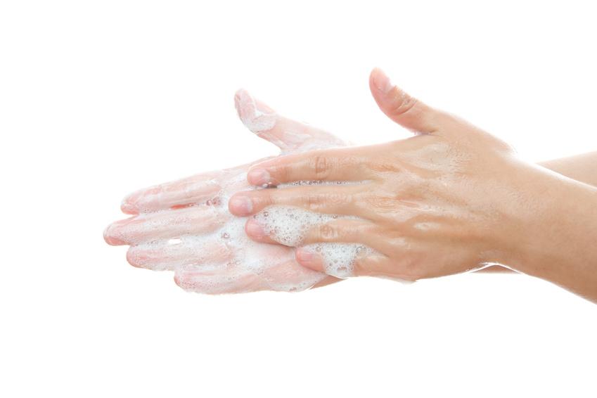 Lavage des mains (savon doux)